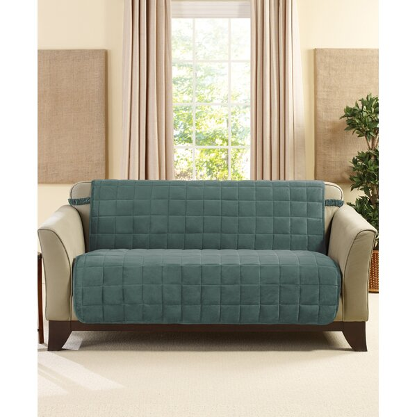 Deluxe Comfort Box Cushion Loveseat Slipcover By Sure Fit