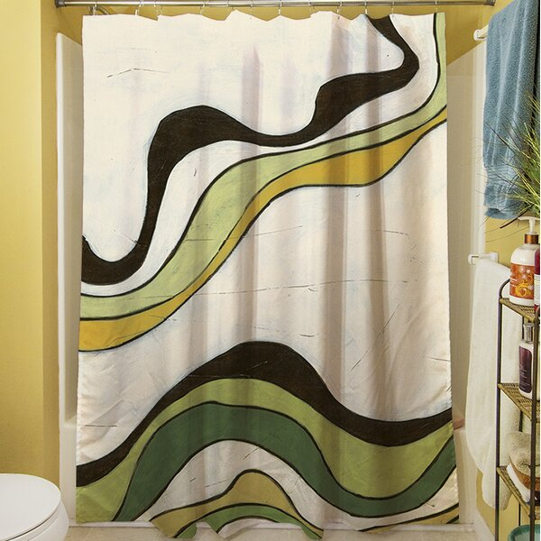 Bandeau II Shower Curtain by Manual Woodworkers & Weavers