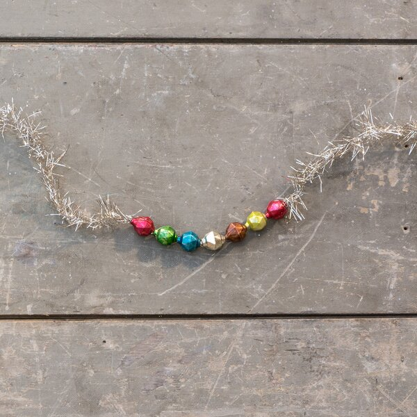 Multi Hexagon Bead and Tinsel Garland by Ragon House Collection