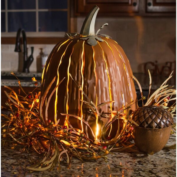 Tall Orange Pumpkin Luminary by Desert Steel
