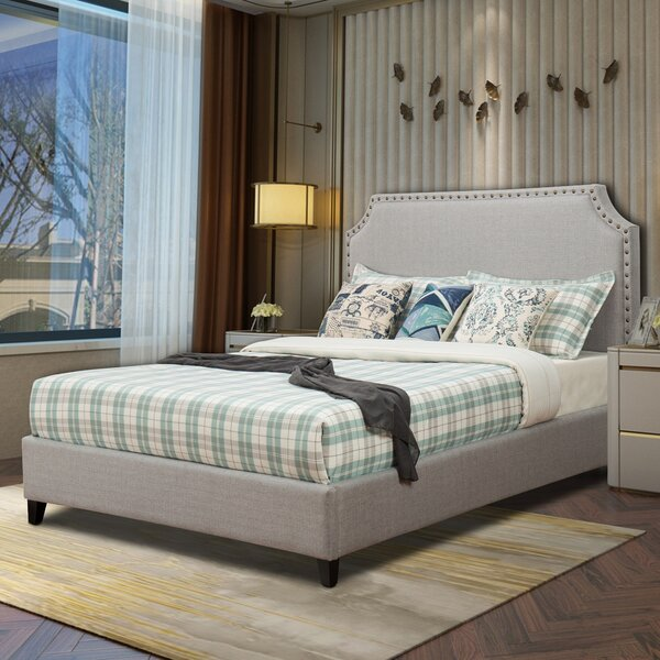 Faucette Upholstery Platform Bed by Charlton Home