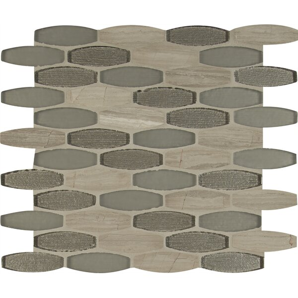 Ellipse Gris 8mm Glass/Stone Mosaic Tile in Gray by MSI