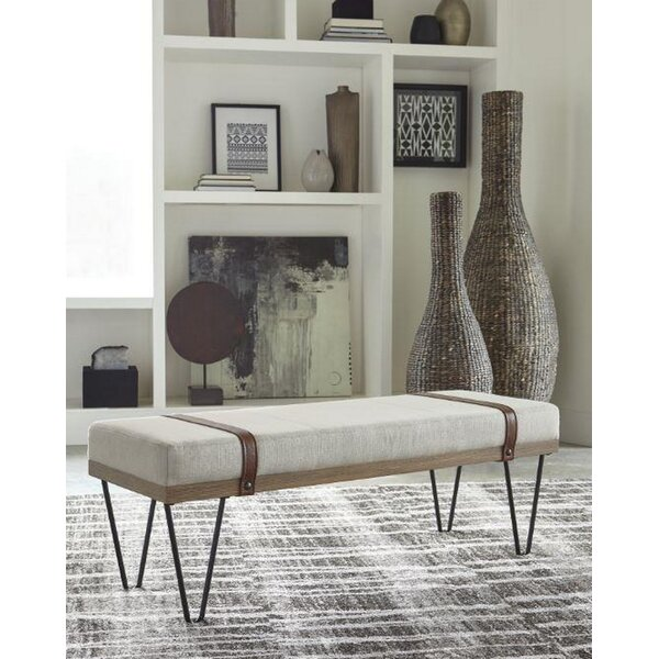 Iain Upholstered Bench by 17 Stories