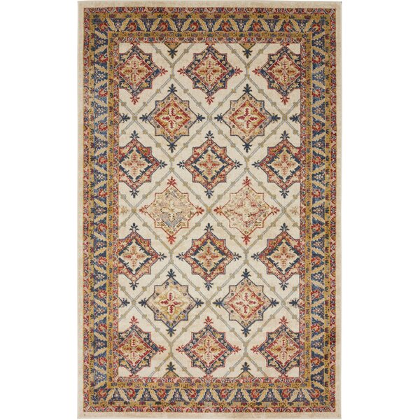 Applewood Cream Area Rug by Charlton Home
