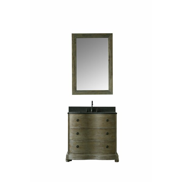 Nigel 36 Single Bathroom Vanity Set with Mirror by Millwood Pines