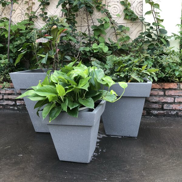 Otley Square Stackable 3-Piece Pot Planter Set by Charlton Home