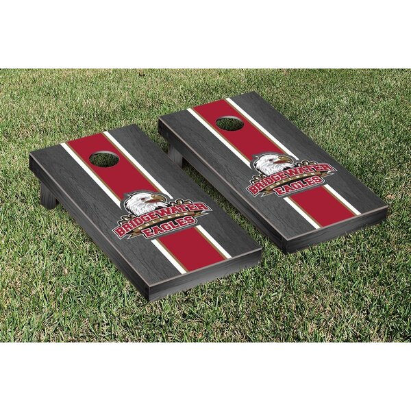 NCAA Onyx Stained Stripe Version Cornhole Bag Toss Game Set by Victory Tailgate