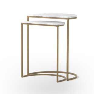 Anwick 2 Piece Nesting Tables by Bungalow Rose