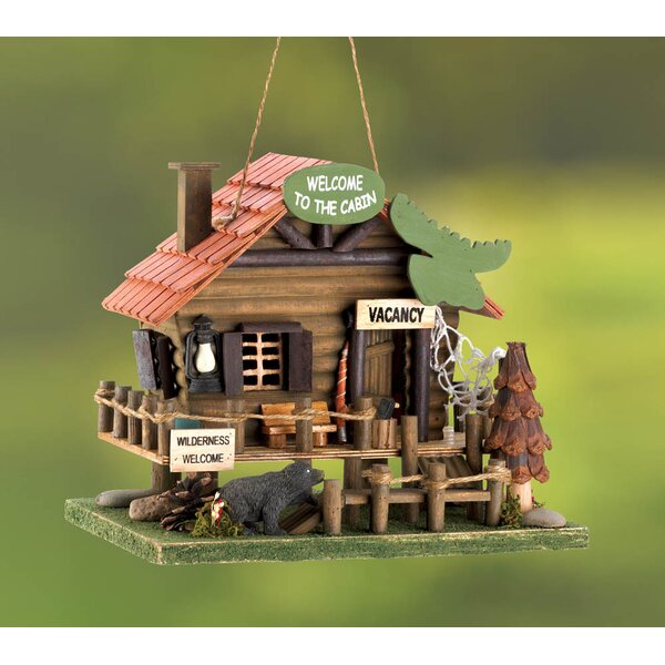 Vacation Cabin 9 in x 8 in x 10.5 in Birdhouse by Zingz & Thingz
