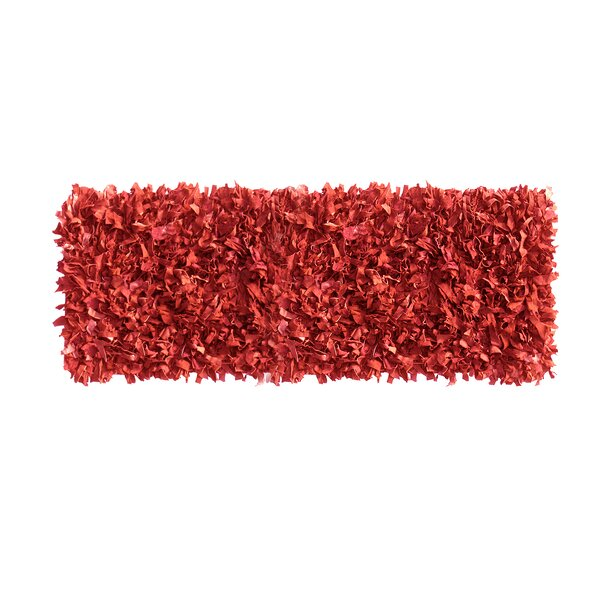 Grigg Hand-Knotted Red Area Rug by Ebern Designs