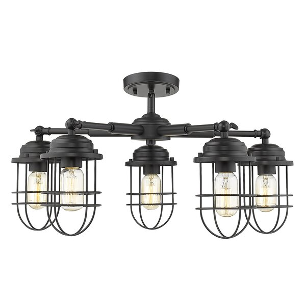 Nihat 5 - Light Shaded Geometric Chandelier by Gracie Oaks Gracie Oaks