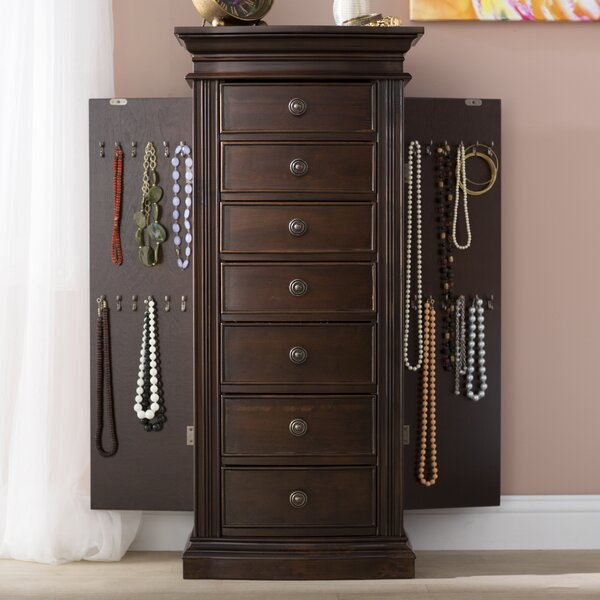 Aitkin Jewelry Armoire with Mirror by Canora Grey