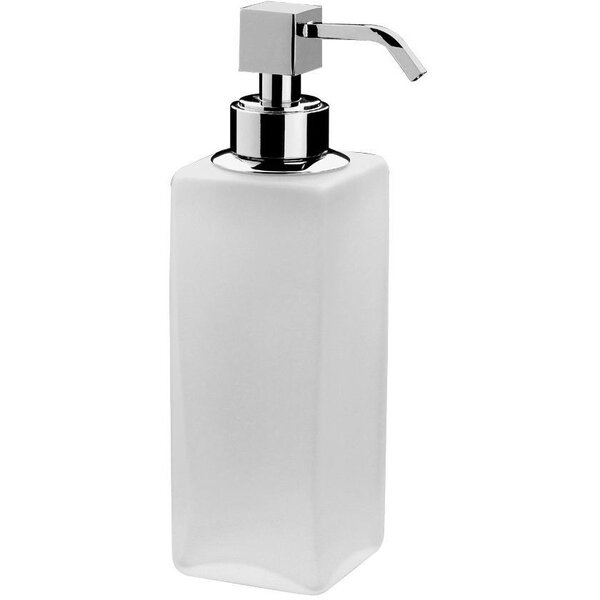 Soderlund Frosted Glass Table Pump Soap & Lotion Dispenser by Orren Ellis