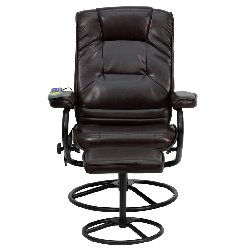 Homcom Deluxe Heated Vibrating Pu Leather Mage Recliner Chair