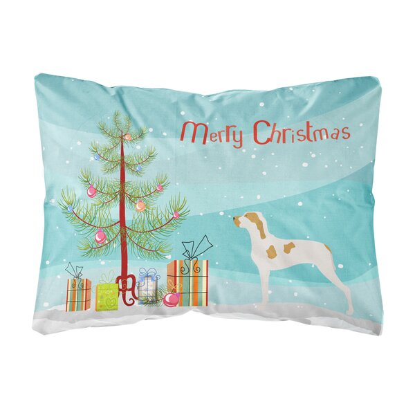 Lucerne Ariege Pointer Christmas Indoor/Outdoor Throw Pillow by The Holiday Aisle