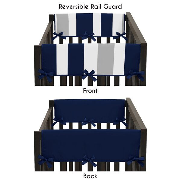 Stripe Side Crib Rail Guard Cover by Sweet Jojo Designs