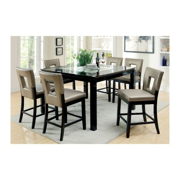 Kinston Contemporary 7 Piece Pub Dining Set by Wrought Studio Wrought Studio