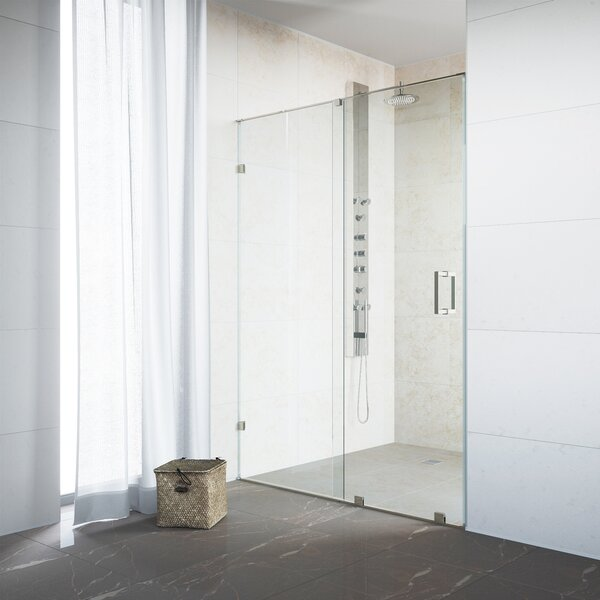 Ryland 48 x 72.75 Single Sliding Frameless Shower Door by VIGO