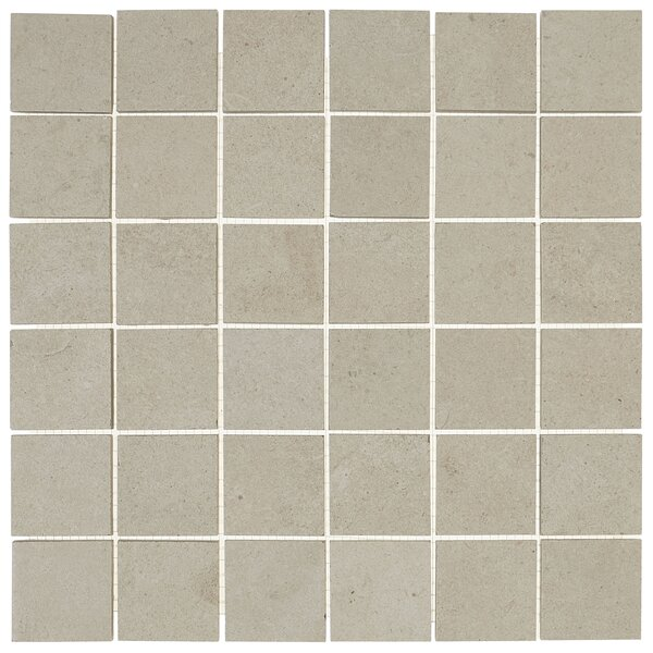 Haut Monde 2 x 2 Ceramic Mosaic Tile in Nobility White by Daltile