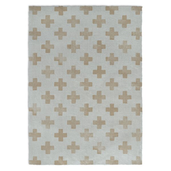 Alsace Blue/Brown Area Rug by Harriet Bee