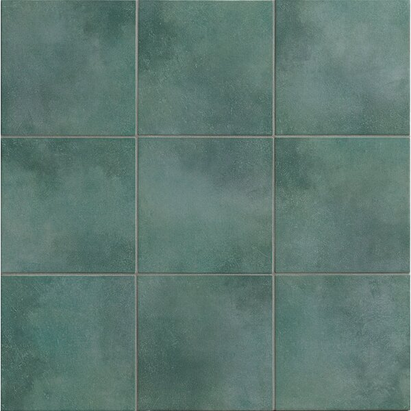 Poetic License 18 x 18 Porcelain Field Tile in Lake by PIXL