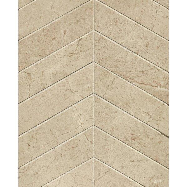El Dorado Chevron 2 x 6 Porcelain Mosaic Tile in Sand