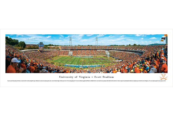 NCAA Virginia, University of - 50 Yard Line by Nathan Haler Photographic Print by Blakeway Worldwide Panoramas, Inc
