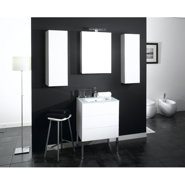Time 32 Single Wall Mounted Bathroom Vanity Set with Mirror by Iotti by Nameeks