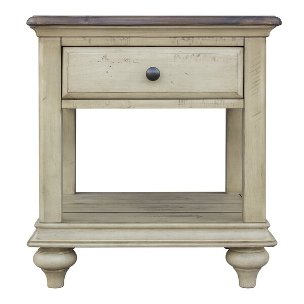 Kennington Solid Wood End Table with Storage by Gracie Oaks Gracie Oaks