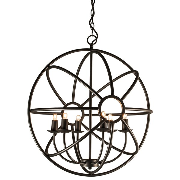 Illana 6-Light Candle Style Globe Chandelier by Nuevo Nuevo