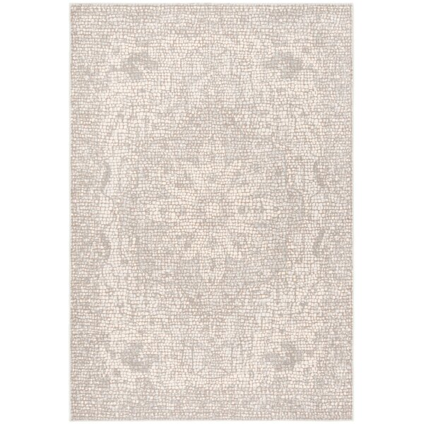 Lapham Power Loomed Silver/Ivory Area Rug by Ophelia & Co.