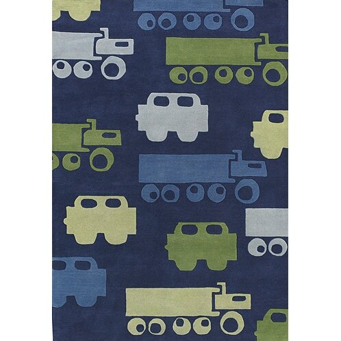 Bentley Blue Car Area Rug by Harriet Bee