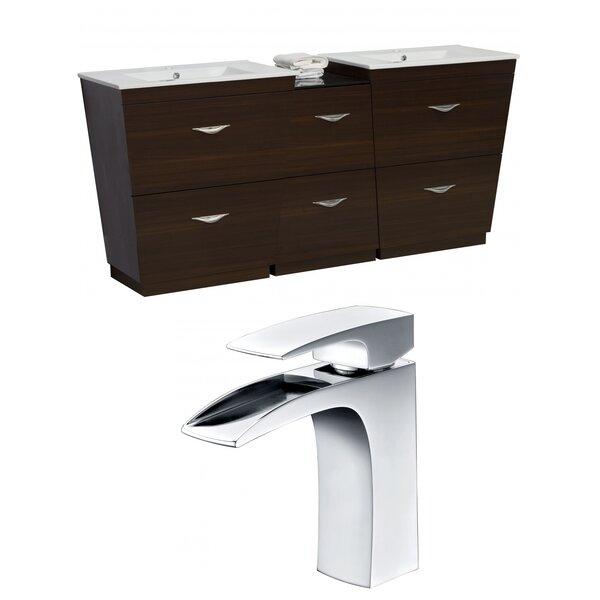 Vee 56 Double Bathroom Vanity Set by American Imaginations