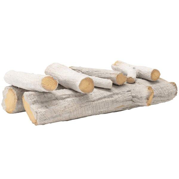 6 Piece Ceramic Fireplace Propane Gas Log Set By Regal Flame