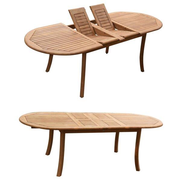Kalmanovitz Extendable Teak Dining Table by Rosecliff Heights