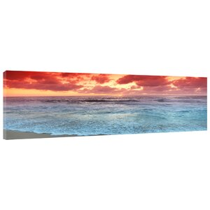 'Sunset Beach' Photographic Print on Wrapped Canvas by Latitude Run