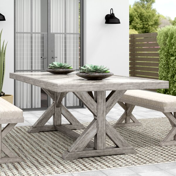 Farmersville Aluminum Dining Table by Greyleigh