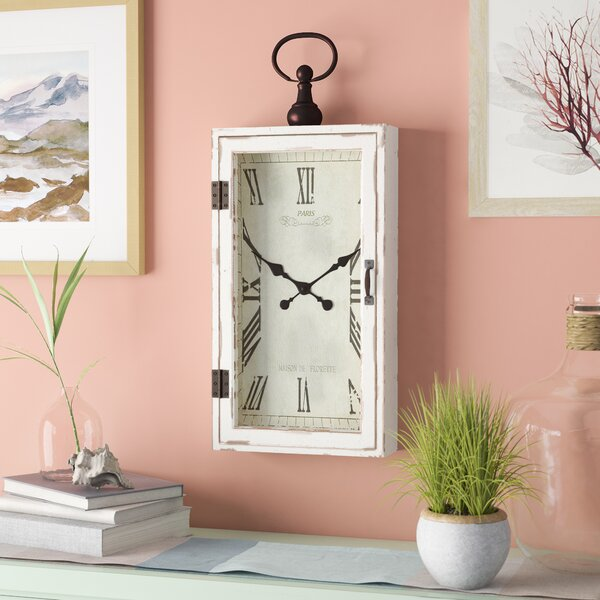 Smart Wood Metal Wall Clock by Beachcrest Home