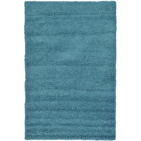 Lilah Teal Blue Area Rug by Andover Mills