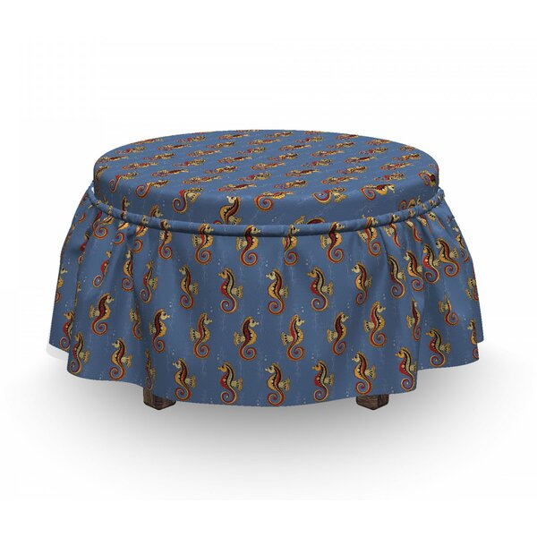 Bubbles Animal Sea Plant Ottoman Slipcover (Set Of 2) By East Urban Home