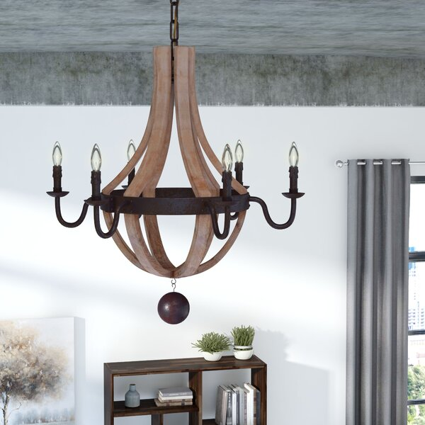 Ladonna 6 - Light Candle Style Empire Chandelier By Laurel Foundry Modern Farmhouse