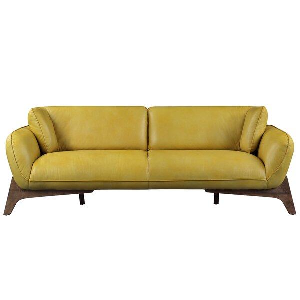 Jacki Leather Sofa By Brayden Studio