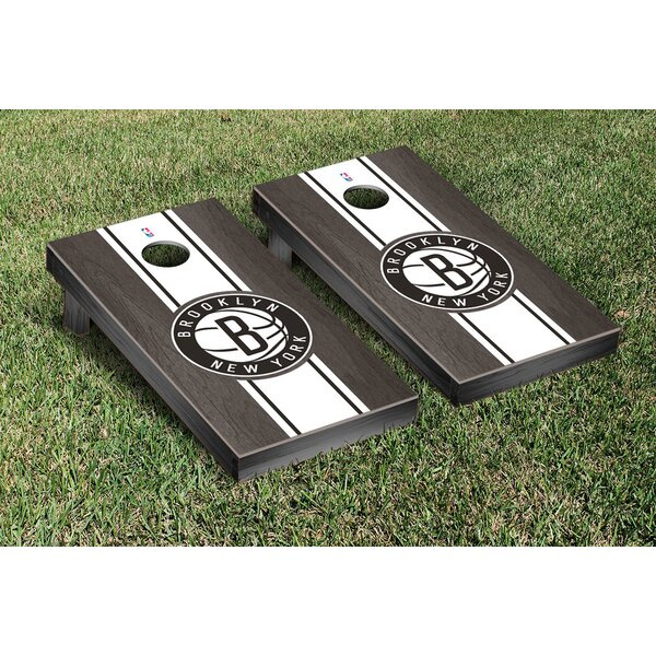 NBA Stained Stripe Version Cornhole Game Set by Victory Tailgate