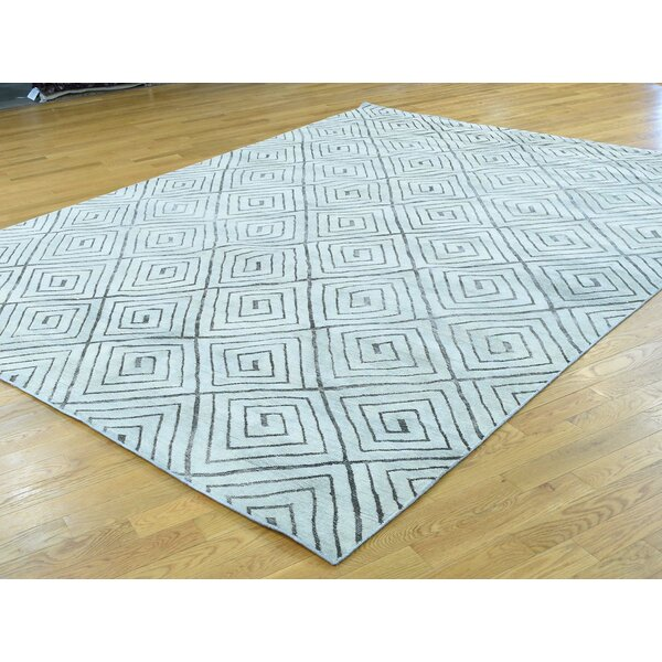 One-of-a-Kind Bocana Handwoven Ivory Wool Area Rug by Isabelline