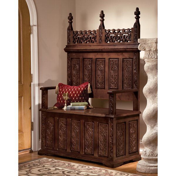 York Monastery Wood Storage Bench by Design Toscano