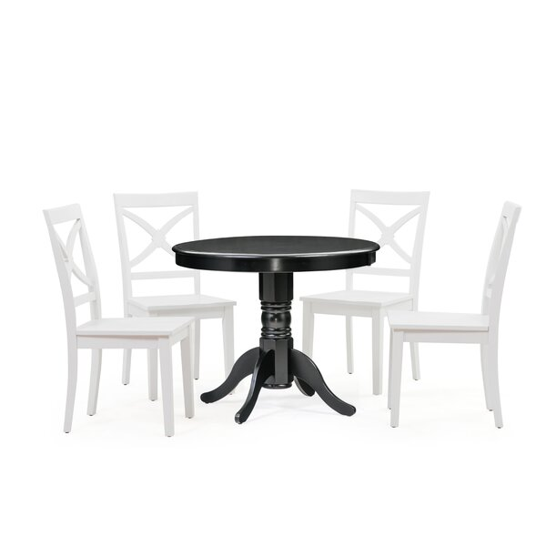 Cedarville 5 Piece Solid Wood Dining Set by Alcott Hill