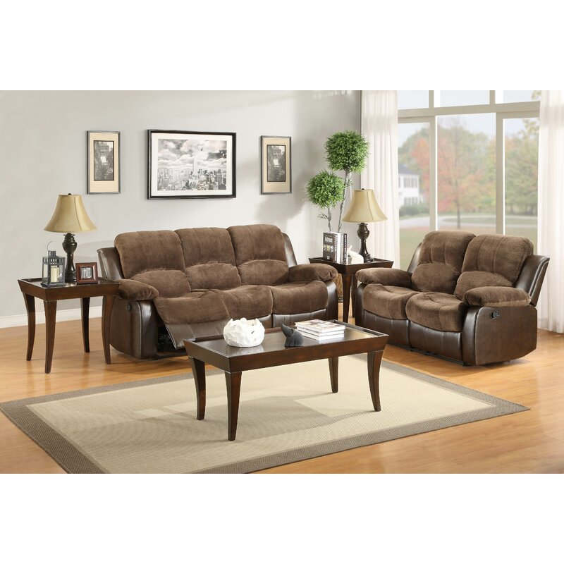 Attrayant Wagnon Reclining Configurable Genuine Leather Living Room Set