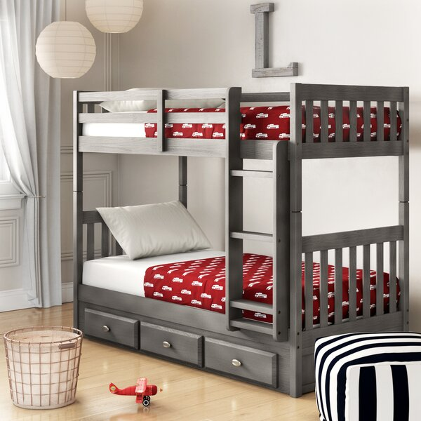 Williamson Twin Over Twin Bunk Bed with 3 Drawers by Birch Lane™ Heritage
