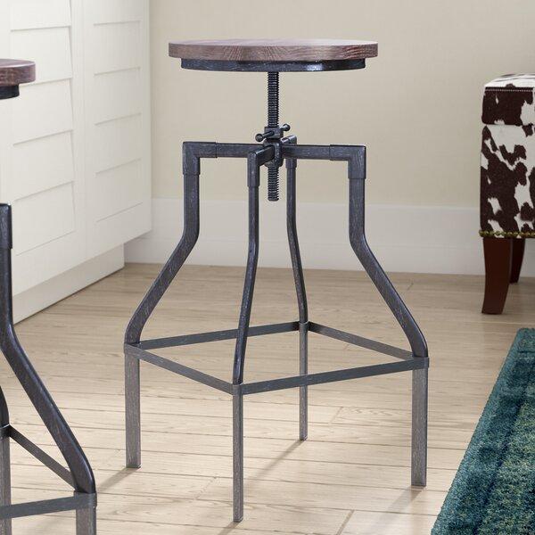 Radersburg Adjustable Height Swivel Bar Stool by Trent Austin Design