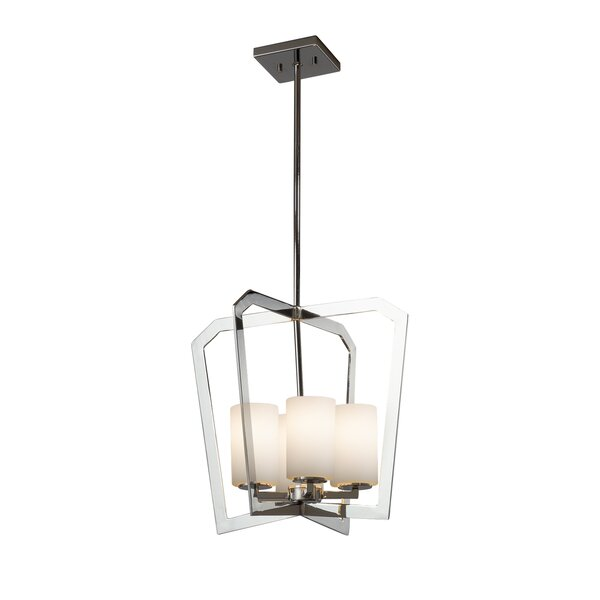 Luzerne 4-Light Shaded Square / Rectangle Chandelier By Brayden Studio